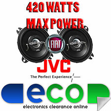 Fiat Punto 99-05 JVC 10cm 4 Inch 420 Watts 2 Way Rear Hatch Car Speakers