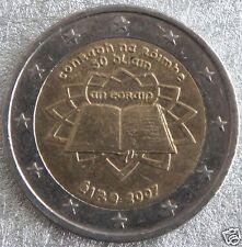 manueduc   2  EUROS  IRLANDA  2007  Conmemorativa TRATADO DE ROMA  NUEVA