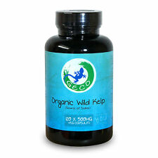 Geco Supplements Organic Kelp – Source of Iodine (120 x 500mg Capsules) 02/2017