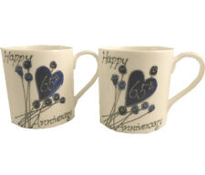65th Wedding Anniversary Gift China Mugs (Pair)
