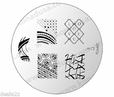 KONAD STAMPING NAIL ART DESIGN TEMPLATE IMAGE PLATE M72