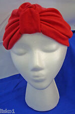 Womens  100% Cotton Turban, Chemotherapy-Cancer Head wrap, Soft, l (red)