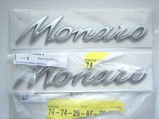 V2 VZ MONARO SIDE REAR QUARTER BADGE x2 PAIR SATIN CHROME GENUINE GM HOLDEN NEW