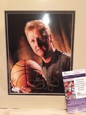 LARRY BIRD AUTHENTIC SIGNED AND MATTED 8x10 PHOTO    GREAT FACE SHOT     JSA COA