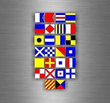 Set of 26x Sticker decal nautical car maritime flag letter international coded