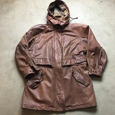 ADVENTURE BOUND By WILSON L Jacket HOODED Long Hood Brown Bomber VTG PARKA