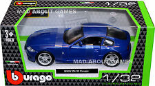 BMW Z4 M COUPE 1:32 Car Metal Model Die Cast Models Diecast Cars Blue Burago