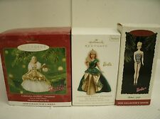 Lot of 3 Hallmark Barbie ornament 2000 & 2011 Special edition, 1959 Debut Blonde