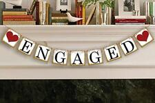 Engaged Heart Bunting Wedding Party Banner Garland Photo Props Hanging Decor