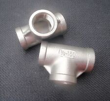 "STAINLESS STEEL TEE  1/2"" NPT PIPE FITTING# SS 1/2X150"