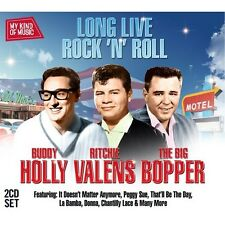 Mkom-Long Live Rock N Roll - Holly/Big Bopper/Valens (2012, CD NEUF)2 DISC SET
