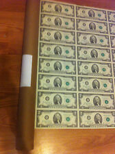 1976- 16 UNCUT SHEET X $ 2 DOLLAR FEDERAL RESERVE BANK-UNCIRCULATED-CRISP NOTES
