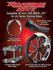 30 Inch Front End Wheel Tire Kit Harley Bagger Roadking Road King Touring Custom