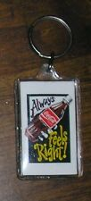 Coca Cola Coke Classic Bottle Ad Always Feels Right Key Ring Charm Chain 2' USA