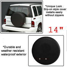 "Black Spare Wheel Tire Cover Spare Tire Cover For Honda CR-V Tire Cover 26"" 27"""