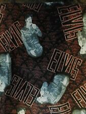 Elvis Black Leather  1968 Special  Fabric SHAMASH & SONS  ONE YARD  RARE