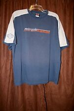 Harley Davidson Crew Neck Shirt Hannums Media PA Pennsylvania Blue Large Bike