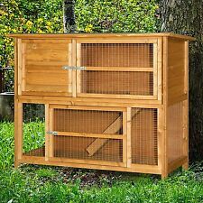 4ft Double 2 tier Rabbit Hutch Cage UK made Free 12 Month Warranty & Shipping!!!