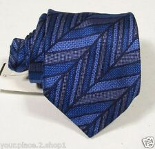 """Missoni Men's 100% Silk Blue Abstract Striped Tie 3.25"""" W 58"""" L Made in Italy"""