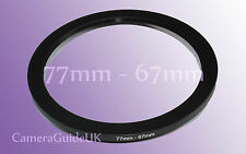 77 A 67mm 77mm-67mm Stepping Step Down filtro anillo adaptador