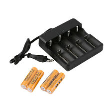 4x18650 3.7V 9900mAh Protected Li-ion Battery+4 Slots Universal Stop Charger FT1