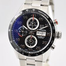 Tag Heuer Carrera Chronograph Day-Date 43mm CV2A10 Automatic Black Steel Cal.16