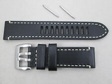 Genuine Luminox 23mm Field Automatic 1809 black leather watch band Series 1800
