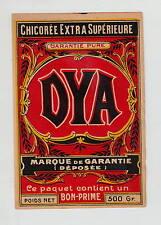 Ancienne étiquette Chicorée  DYA