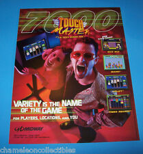 TOUCH MASTER 7000 By MIDWAY ORIGINAL NOS VIDEO ARCADE GAME SALES FLYER #1