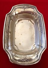Vintage R WALLACE & SONS Sterling Silver Dish Bowl Business Card Tray