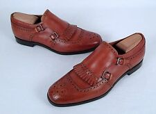 Prada Kiltie Double Monk Strap Loafer- Walnut Calf- Size 7 US/ 6 UK  $770  (S4)