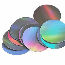 "Silver Lazersheen Rainbow Metallic Sequins Round 2"" Large Couture Paillettes"