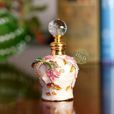 Dragonfly Vintage Empty Metal Glass Essential Oil Perfume Bottle Stopper Gift