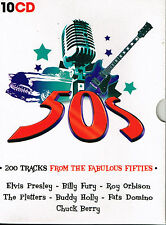CD Album: 50's: 200 tracks from the fabulous fifties. coffret 10 cd. charly