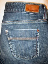 Eddie Bauer Classic Boot Cut Stretch Womens Dark Denim Jeans Size 4 R x 30