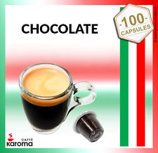 100 Capsules Compatible NESPRESSO PODS. Creamy Chocolate! NEW EXP 11/17 Karoma!