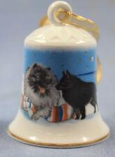 Airdale jack russel terrier Porzellan glocke  figur porzellanglocke