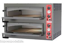 forno pizza elettrico professionale piano refrettario 9+9 pizze 34cm con luci