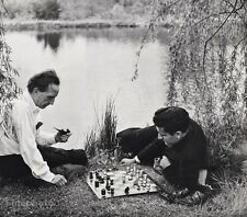 1957 Vintage MARCEL DUCHAMP LARRY EVANS Chess Photo Art 16x20 ~ PHILIPPE HALSMAN