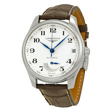 Longines Master Collection Automatic Silver Brown Leather Mens Watch LNG26664783