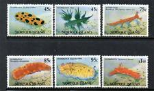NORFOLK ISLAND MNH 1993 SG550-555 NUDIBRANCHS SET OF 6