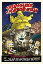 """THE SIMPSONS TV Show Silk Fabric Poster 11""""x17"""" Treehouse of Horror Art"""