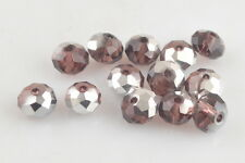 Charms 50Pcs 8x6mm Faceted Glass Loose Beads Spacer Rondelle Jewelry Findings