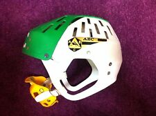 JOFA ABC hockey helmet with mouthguard old vintage green/white Sweden