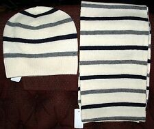 NWT Brooks Brothers Cream  Men's Wool Scarf and Matching Cap