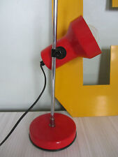 Red metal desk lamp industrial mcm vintage mid century retro light