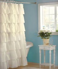 French Country TIER RUFFLE SHOWER SHOWER CURTAIN Fabric ~ Exceptional Quality
