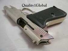 CHROME ITALY METAL 007 WALTHER PPK BOND MOVIE PROP Pistol Replica Gun Training