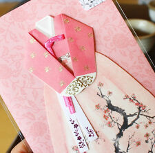 Korean Traditional Post Card Costumes HANBOK Apricot flowers point