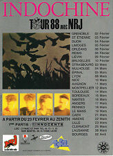 "PUBLICITE ADVERTISING 014   1988    NRJ  radio  "" INDOCHINE"""